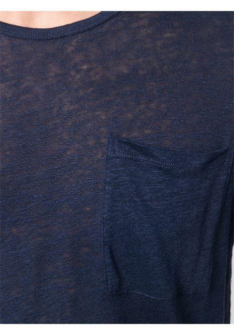 T-shirt velata Ecstasea in lino blu navy MC2 | Maglieria Moda | ECSTASEA LONGBLUE NAVY