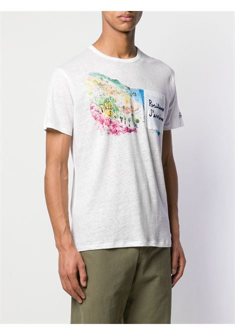 white linen Positano embroidered T-shirt  MC2 |  | ECSTASEA-EMB POSITANO01