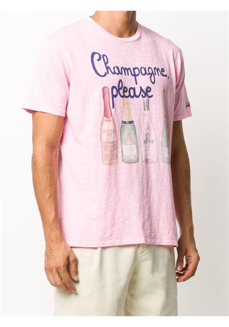 T-shirt Champagne Please in cotone rosa MC2 | Maglieria Moda | SKYLAR-CHAMPAGNE PLEASE21