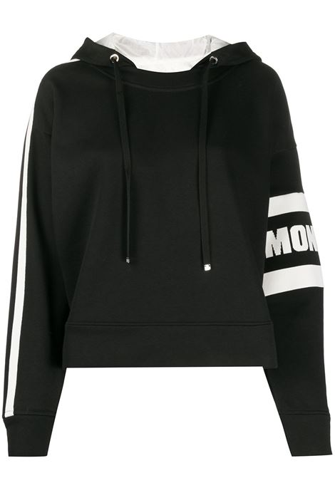 black sweatshirt with side Moncler white logo MONCLER |  | 8G709-00-V8105999
