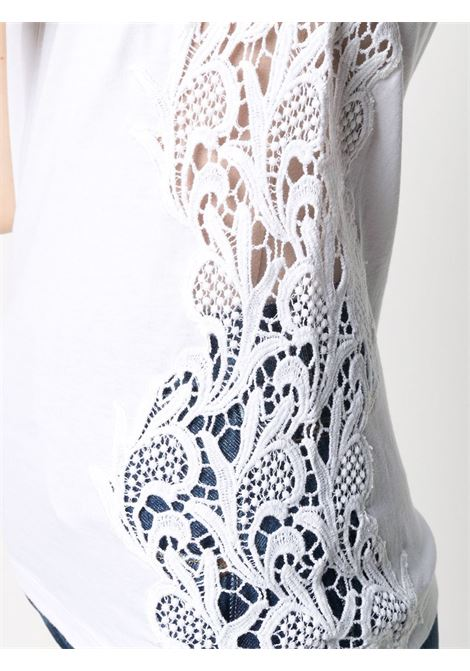 White cotton lace embroidery tank top  P.A.R.O.S.H. |  | D150564-COLACE001