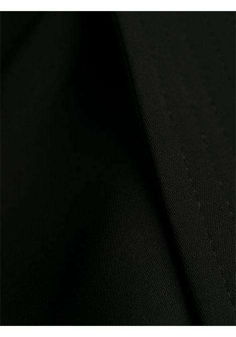 Pantaloni cropped neri con cintura con dettagli plissettati P.A.R.O.S.H. | Pantaloni | D230431-PANTERS013