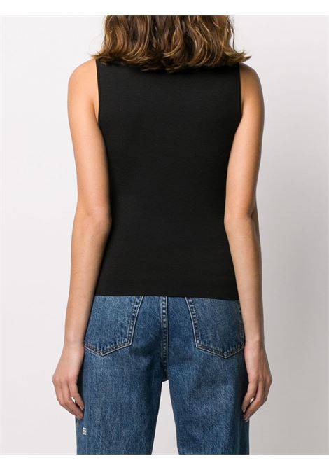Black Rok knitted vest top featuring a round neck P.A.R.O.S.H. |  | D510926-ROK013