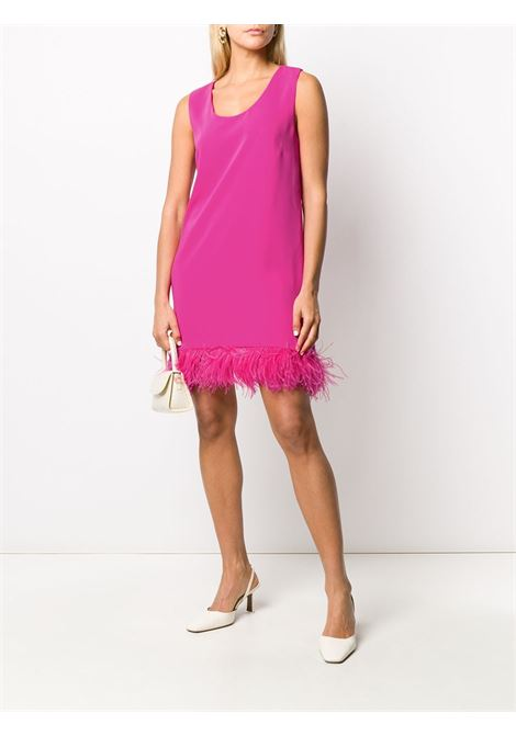 Fuchsia feather trimmed mini dress  P.A.R.O.S.H. |  | D723198P-PANTERS042