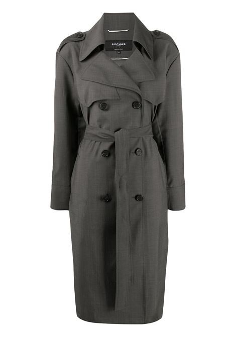 Medium grey virgin wool belted trench coat  ROCHAS |  | ROPQ100526-RQ20050035