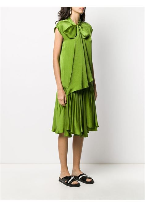 Lime green straight fit dress featuring a pussy bow fastening ROCHAS |  | ROWQ506826-RQ360100310