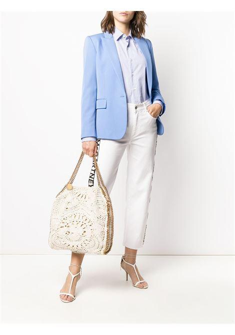 Falabella grande bianca in cotone crochet con catena dorata STELLA MC CARTNEY | Borsa | 261063-W86329300