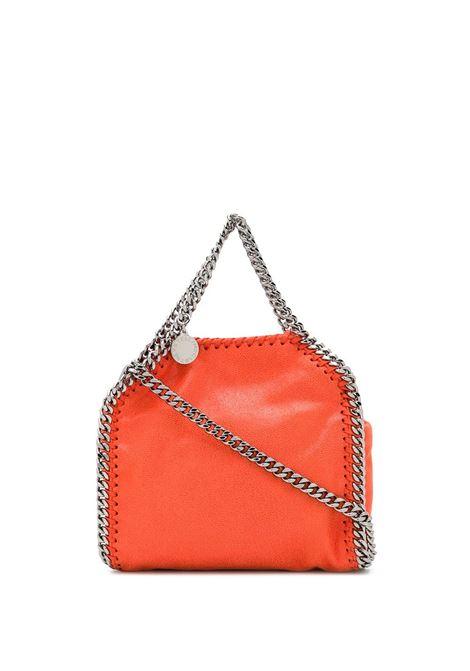 Falabella mini in eco-pelle arancione e catena argentata STELLA MC CARTNEY | Borsa | 391698-W91326561