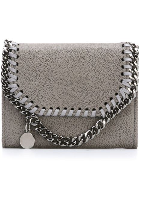 light grey eco-leather Falabella wallet with silver chain STELLA MC CARTNEY |  | 391836-W91321220