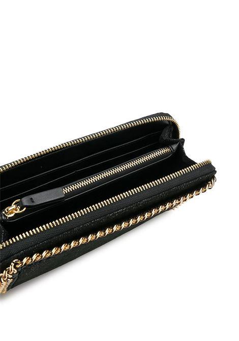 portafogli Falabella nero in eco-pelle scamosciata e catena dorata STELLA MC CARTNEY | Portafogli | 434750-W93551000