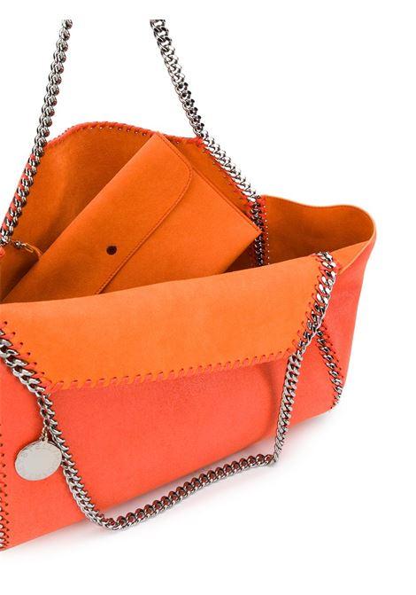 Falabella reversibile arancione in eco-pelle scamosciata con catena brunita STELLA MC CARTNEY | Borsa | 507185-W81876561