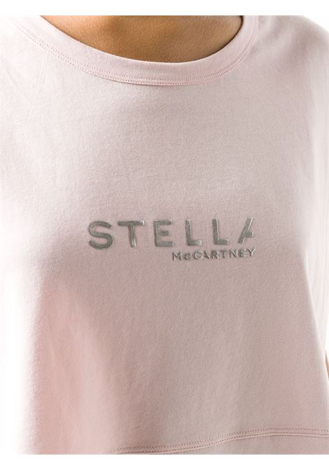 boxy-fit pink t.shirt with front logo STELLA MC CARTNEY |  | 600121-SNW666900