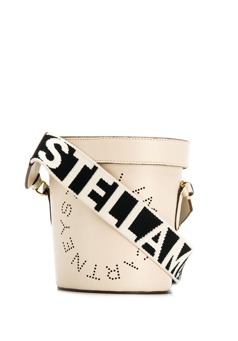 eco-leather white bucket bag with logo shoulder strap STELLA MC CARTNEY |  | 700016-W85429000