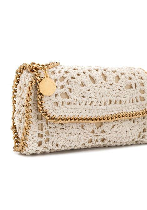 Falabella shoulder bag in maglia crochet bianca e catena dorata STELLA MC CARTNEY | Borsa | 700069-W86329300