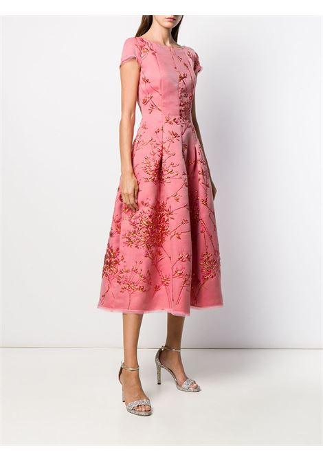 Abito Portsmith in misto seta rosa con scollo tondo TALBOT RUNHOF | Abiti | PORTSMITH8-FP20369