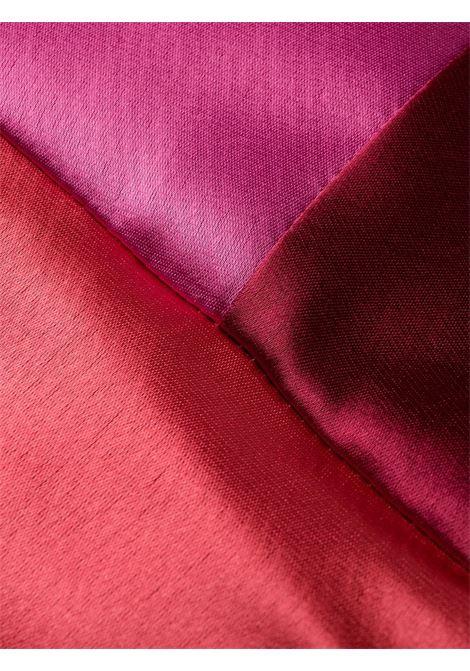 Abito Solberg rosso e rosa con scollo a V TALBOT RUNHOF | Abiti | SOLBERG5-WT23369