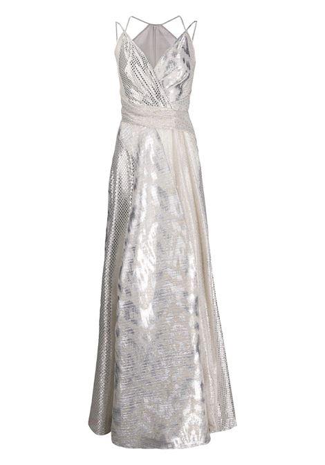 Abito Solberg color argento con scollo a V TALBOT RUNHOF | Abiti | SOLBERG6-FK15025
