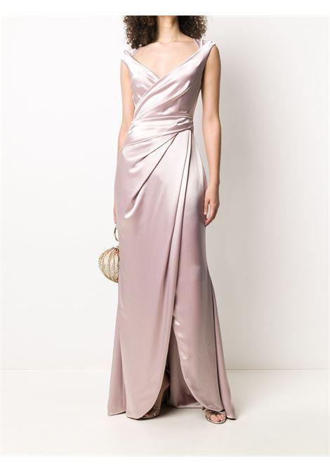 Rose pink Towanda gathered wrap-style dress   TALBOT RUNHOF |  | TOWANDA2-WT10020