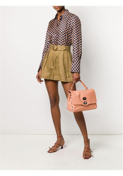 medium peach Postina foldover leather tote bag Zanellato |  | 6120-1818