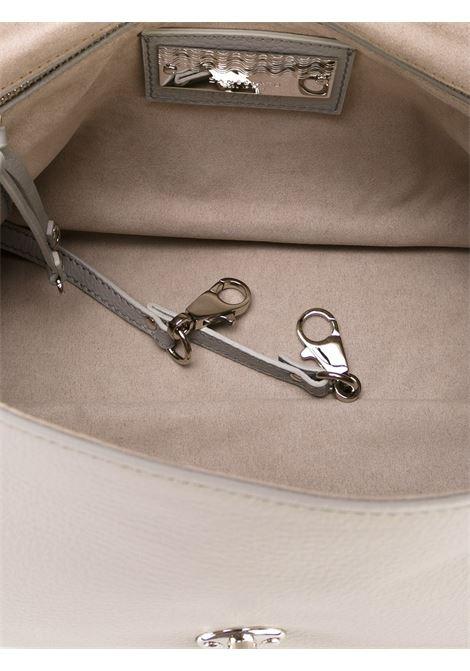 small Postina light grey tote in hammered leather Zanellato |  | 6120-1859