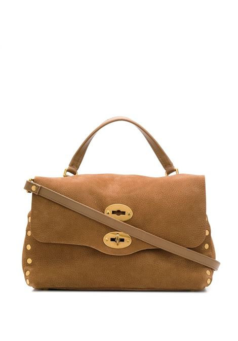 tan brown medium nabuk leather Postina tote bag Zanellato |  | 6138-4333