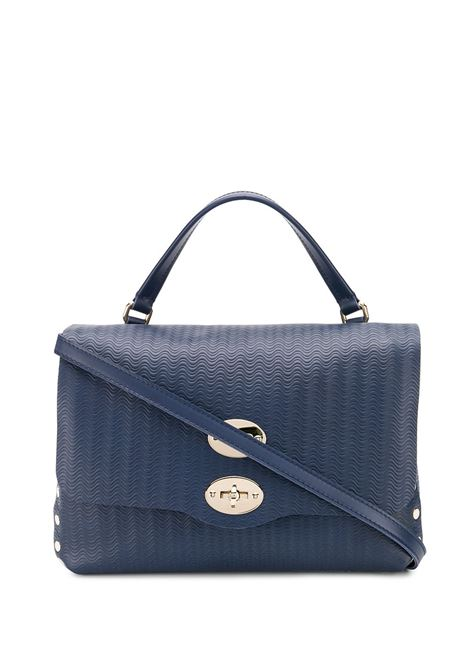 small dark blue Postina tote bag in wave effect leather Zanellato |  | 6138-6035