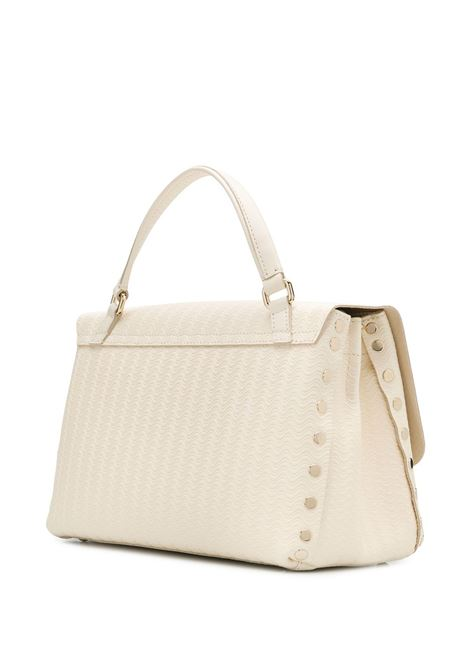 small white leather Postina tote bag with wave effect design   Zanellato |  | 6138-60V1