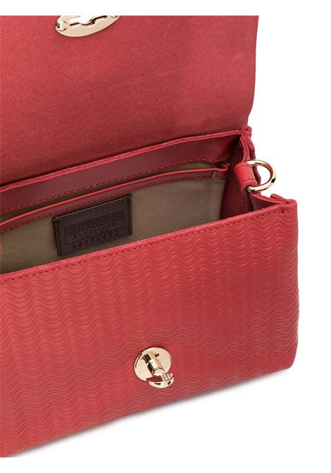 red leather Postina baby crossbody bag with wave effect leather print Zanellato |  | 6263-6073