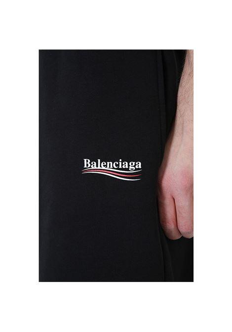 black fleece bermuda shorts with Balenciaga side logo  BALENCIAGA |  | 509833-TYK921000