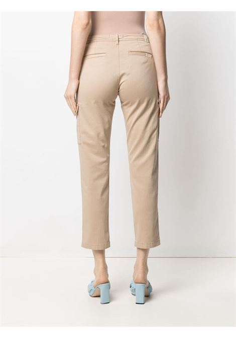 Beige cotton blend cropped cargo pants featuring low-rise 7 FOR ALL MANKIND |  | JSL3V950SE-CARGO CHINOBEIGE