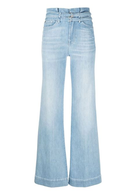 Jeans a zampa azzurri in misto cotone a vita alta 7 FOR ALL MANKIND | Jeans | JSWDR510RN-PAPERBAGLIGHT BLUE