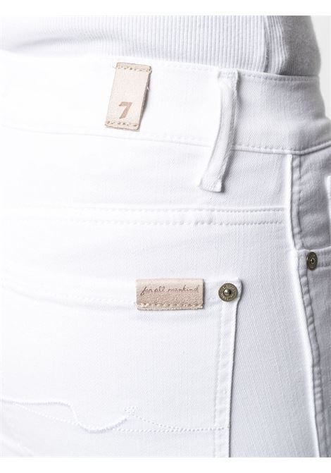 Jeans a zampa di elefante a vita media in cotone bianco 7 FOR ALL MANKIND | Jeans | JSYRV50RPU-CROPPED BOOTWHITE