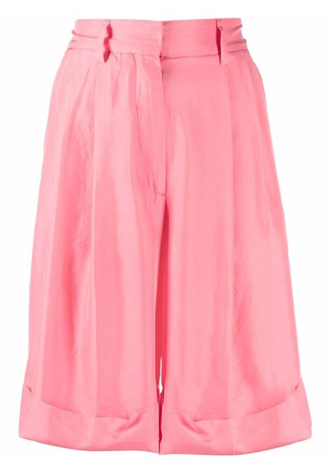 Rose pink silk knee length shorts  A.B. |  | ABH001-V1211580