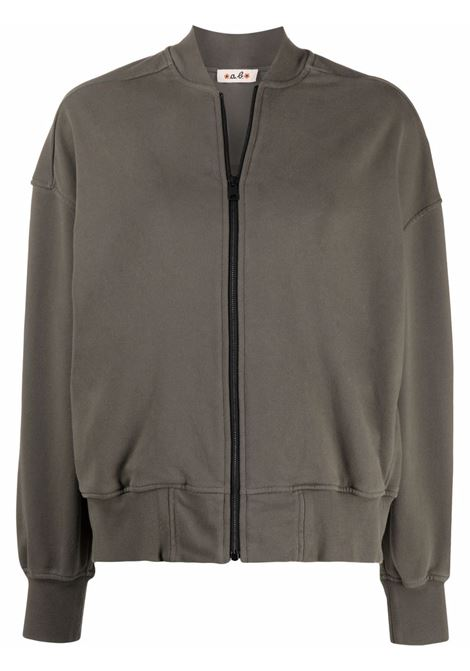 Green cotton bomber jacket featuring ribbed detailing A.B. |  | ABJM014-J1325240