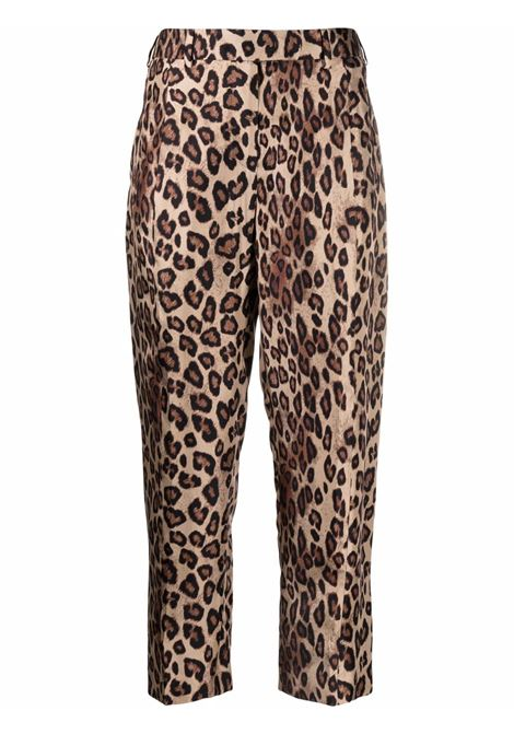 silk cropped leopard-print trousers  ALBERTO BIANI |  | CC808-SE310666