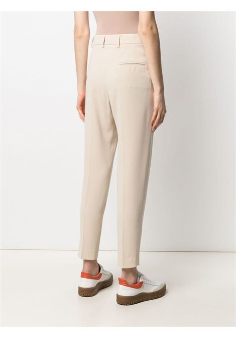 ivory white high-waisted tailored trousers featuring pressed crease ALBERTO BIANI |  | CC859-AC0028110