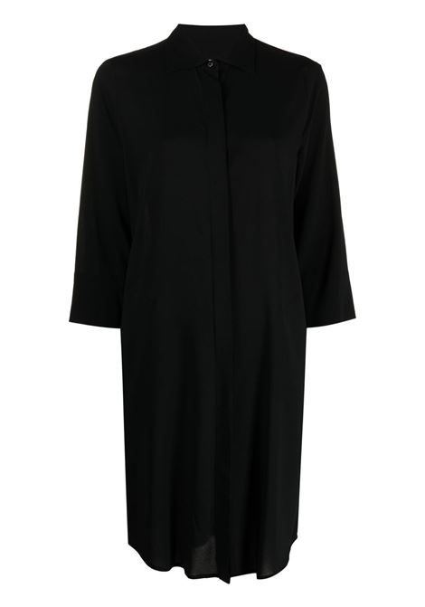 Black cropped sleeve shirtdress featuring classic collar ALBERTO BIANI |  | EE854-VI008190