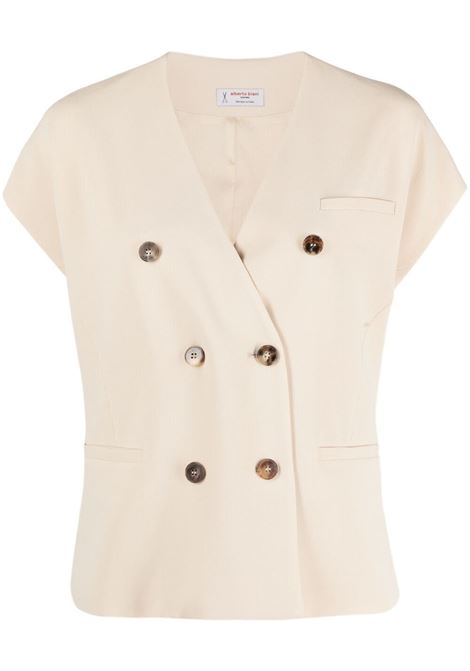 beige V-neck double-breasted blouse  ALBERTO BIANI |  | GG808-AC0028110