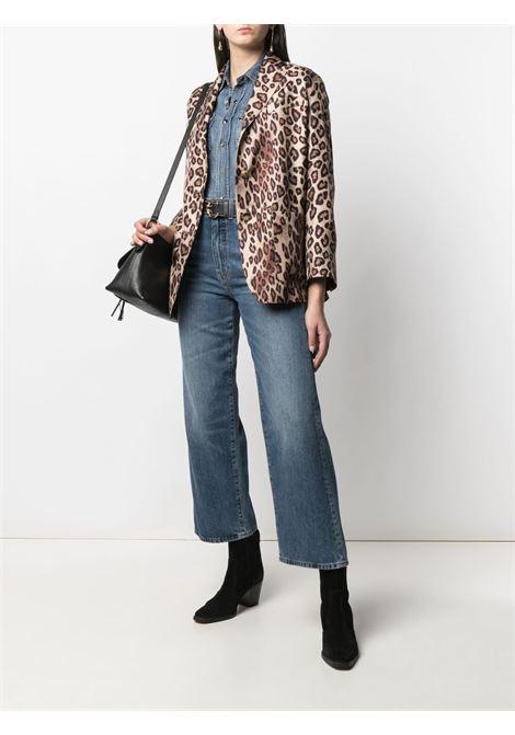 Silk leopard-print blazer featuring all-over print ALBERTO BIANI |  | II864-SE310666
