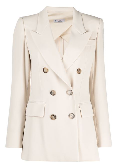 Beige double-breasted fitted blazer featuring classic lapels ALBERTO BIANI |  | II866-AC0028110