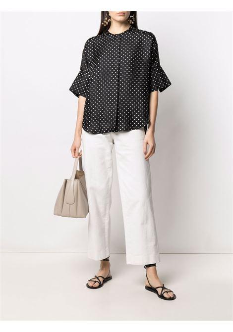 Black and white silk polka-dot print blouse  ALBERTO BIANI |  | MM817-SE313390