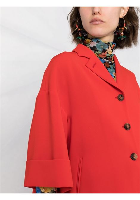 Scarlet red three-quarter sleeve blazer  ALBERTO BIANI |  | PP858-AC002841