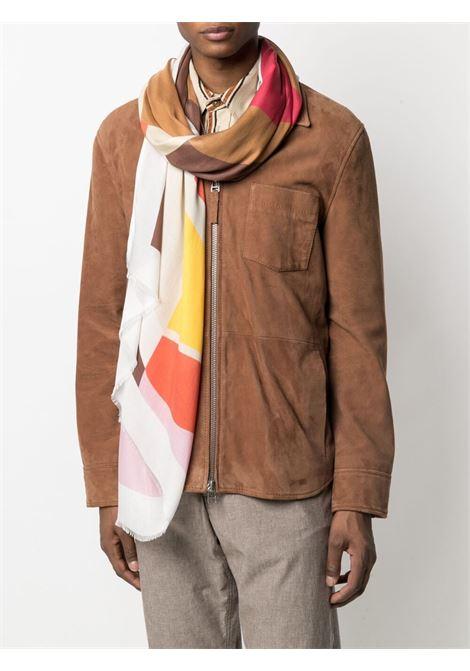 Sciarpa sfrangiata multicolore a blocchi di colore ALTEA | Sciarpe e foulards | 215006102