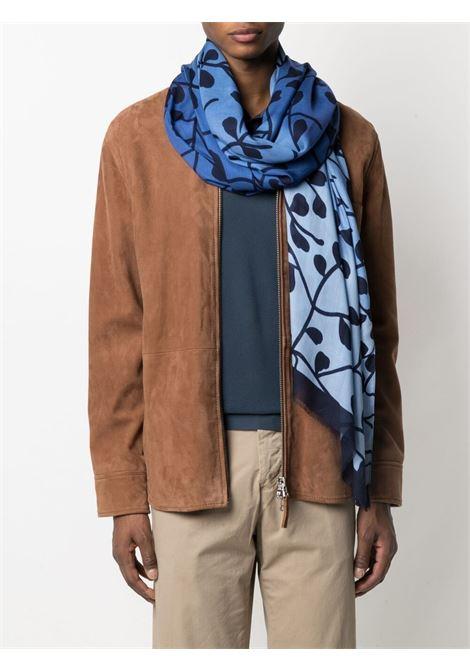 Sciarpa sfrangiata marrone a stampa floreale ALTEA | Sciarpe e foulards | 215006801