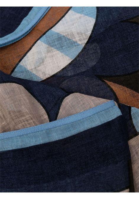 foulard in lino multicolore con stampa astratta ALTEA | Sciarpe e foulards | 215042001