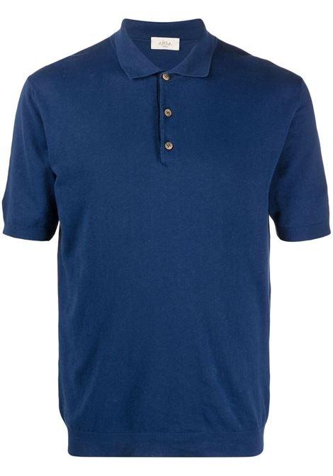 Polo in maglia a maniche corte in lino blu royal ALTEA | Polo | 215100204