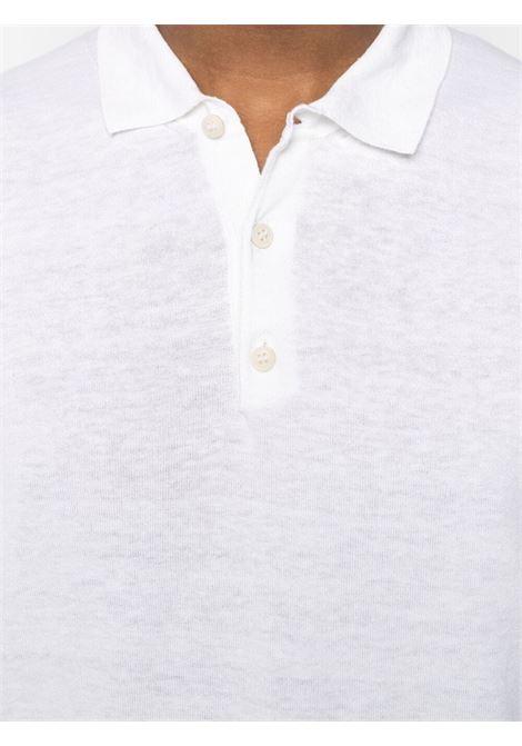 Polo bianca in cotone e lino ALTEA | Polo | 215100229