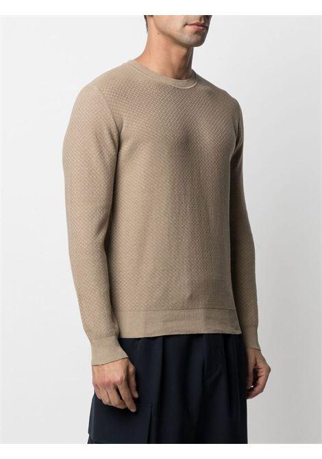 Maglione lavorato a maglia in lino beige sabbia ALTEA | Maglieria | 215101032