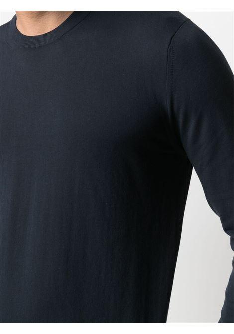 Maglia girocollo in cotone blu navy ALTEA | Maglieria | 215102001