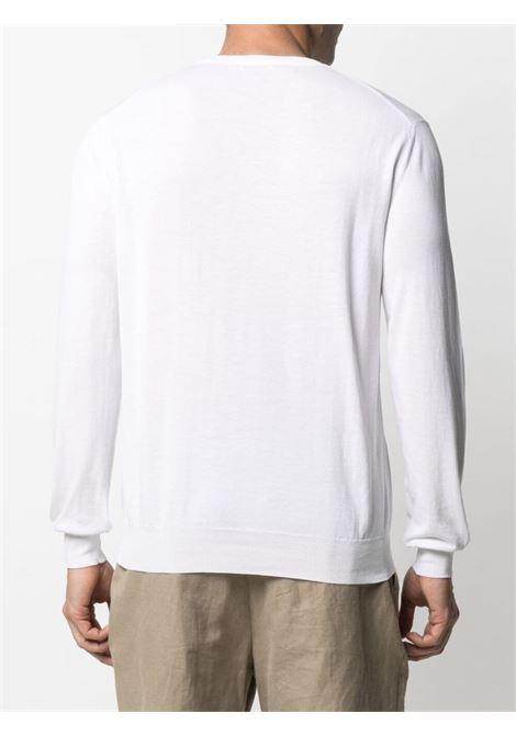 Maglia girocollo in cotone bianco con maniche lunghe ALTEA | Maglieria | 215102029